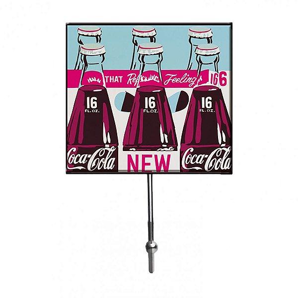 Cabideiro de Vidro e Metal Coca-Cola Six Pack Bottles - 1 Gancho