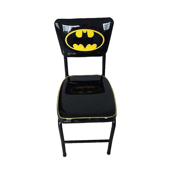 Cadeira de Metal DC Comics Batman Logo Amarelo / Preto - 40 x 45 x 20 cm