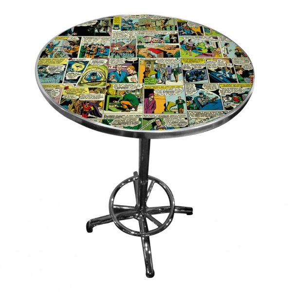 Mesa Redonda de Ferro DC Comics Quadrinhos Coloridos - 60 x 106 cm