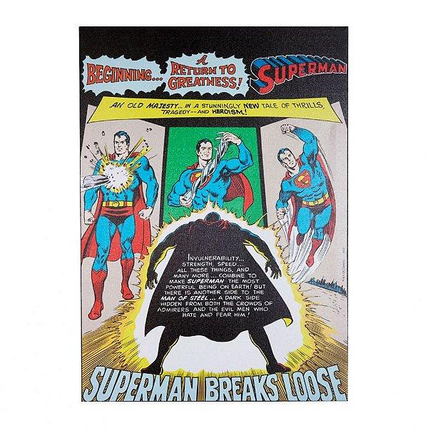 Quadro / Tela Retangular DC Comics Superman Breaks Loose - 70 x 50 cm