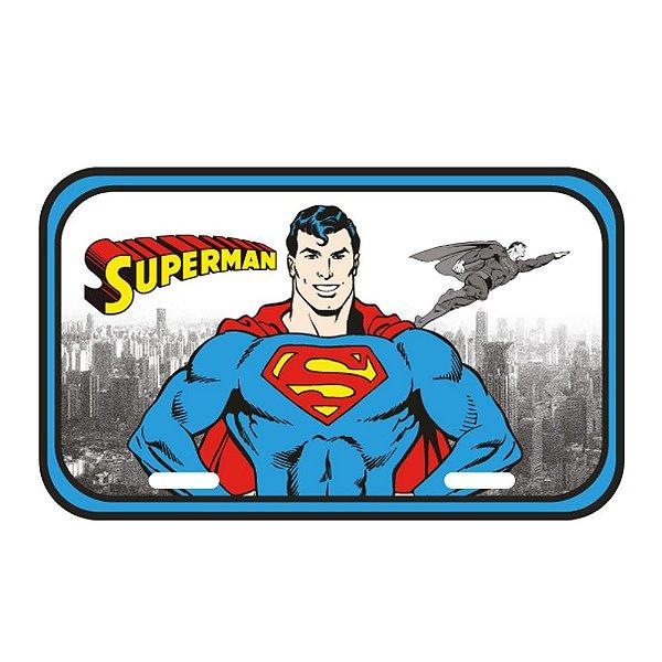 Placa Retangular Decorativa de Metal DC Comics Superman - 15 x 30 cm