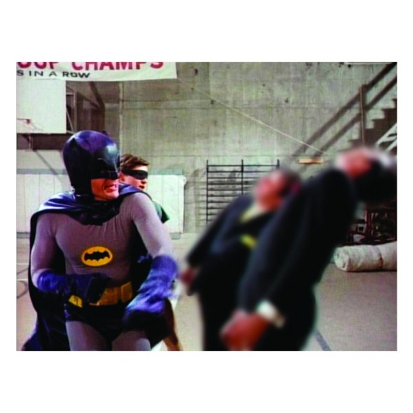 Quadro / Tela Retangular DC Comics Batman and Robin Movie Fighting - 50 x 70 cm