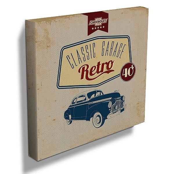 Quadro / Tela Quadrado GM Vintage Classic Garage Retro - 40 cm