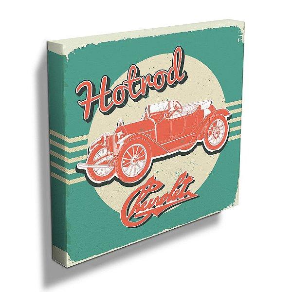 Quadro / Tela Quadrado GM Vintage Jalopy Hotroad - 40 cm