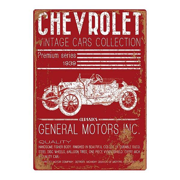 Quadro / Tela Retangular GM Chevrolet Vintage Cars Collection - 60 x 40 cm