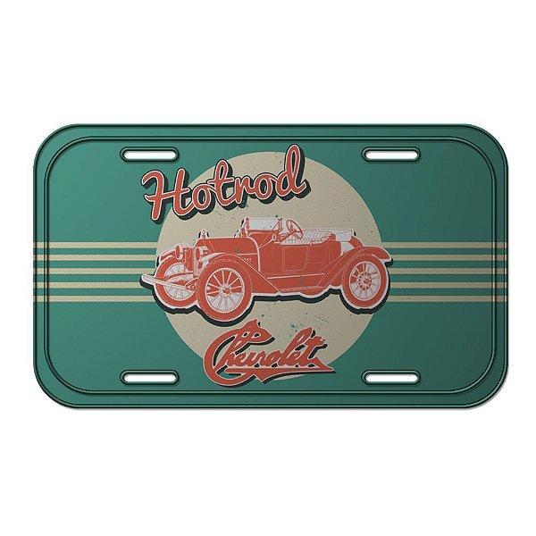Placa Retangular Decorativa de Metal GM Vintage Jalopy Hotroad - 15 x 30 cm