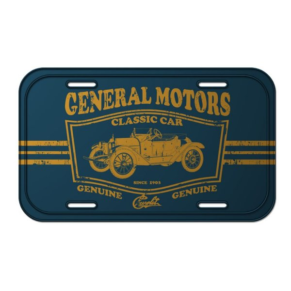Placa Retangular Decorativa de Metal GM Vintage Jalopy Classic Car - 15 x 30 cm