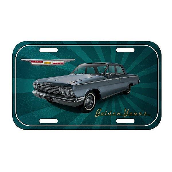 Placa Retangular Decorativa de Metal GM Vintage Baby Boomer - 15 x 30 cm
