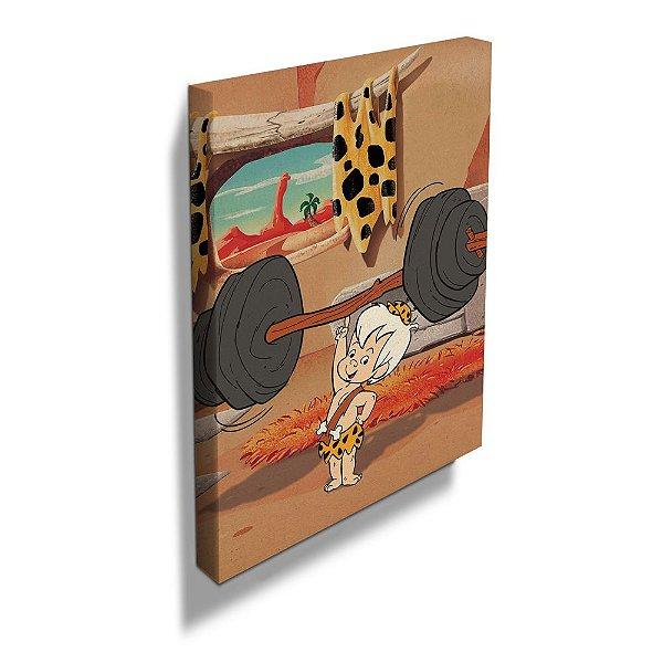 Quadro / Tela Retangular Hanna Barbera Os Flintstones Bambam - 50 x 40 cm