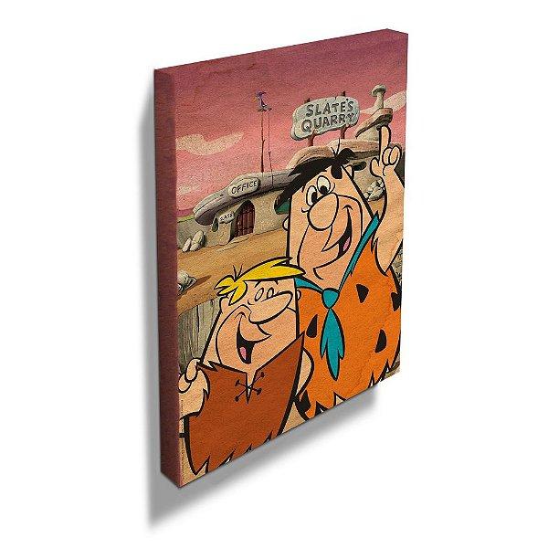 Quadro / Tela Retangular Hanna Barbera Os Flintstones Fred e Barney - 50 x 40 cm
