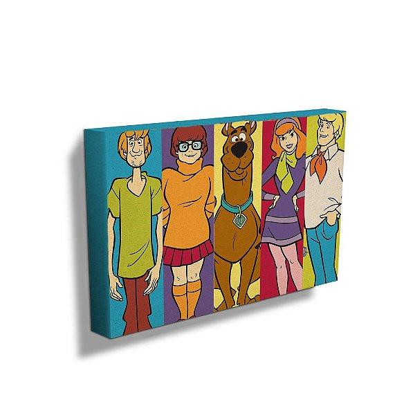 Quadro / Tela Retangular Hanna Barbera Scooby-Doo e sua Turma - 50 x 70 cm