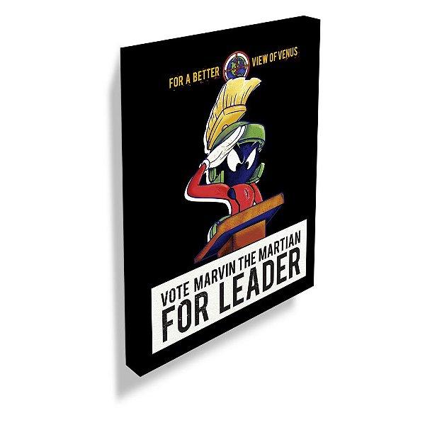 Quadro / Tela Retangular Looney Tunes Vote Marvin the Martian for Leader - 70 x 50 cm