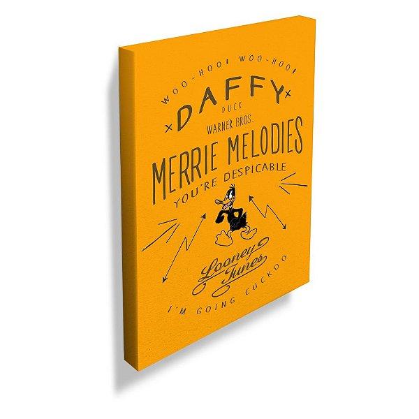 Quadro / Tela Retangular Looney Tunes Daffy Duck Merrie Melodies - 70 x 50 cm