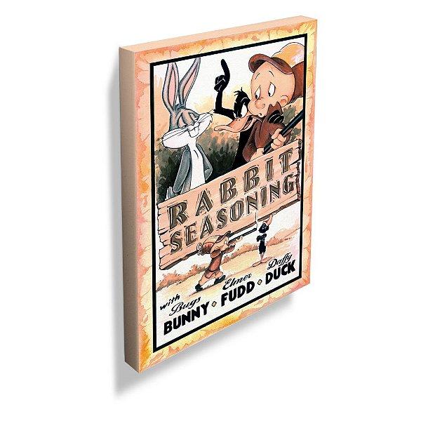 Quadro / Tela Retangular Looney Tunes Rabbit Seasoning Movie Poster - 70 x 50 cm