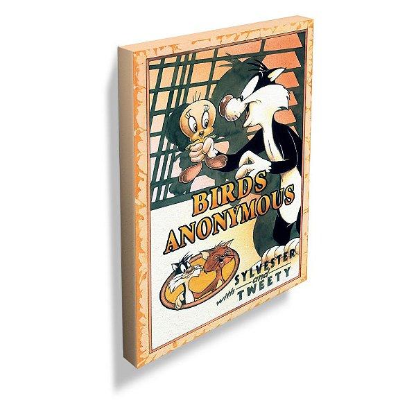 Quadro / Tela Retangular Looney Tunes Birds Anonymous Movie Poster - 70 x 50 cm