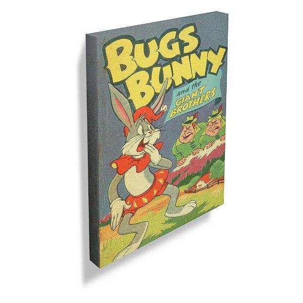 Quadro / Tela Retangular Looney Tunes Vintage Collection Bugs Bunny and the Giants - 70 x 50 cm