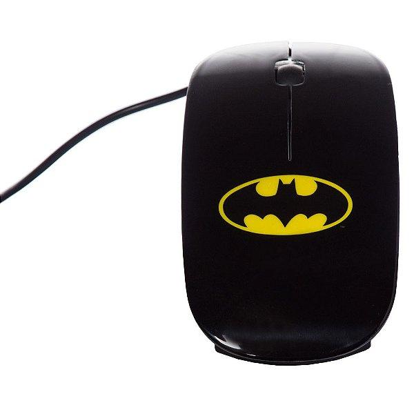 Mouse com Fio DC Comics Batman Logo Amarelo / Preto