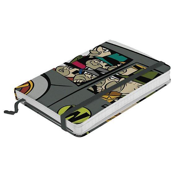 Caderneta de Anotação com Elástico 80 Folhas HB Corrida Maluca Quadrilha da Morte - 14 x 10 cm