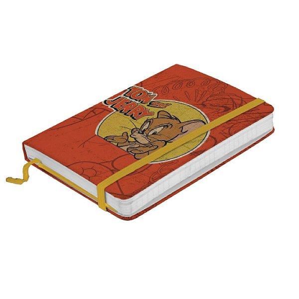 Caderneta de Anotação com Elástico 80 Folhas Hanna Barbera Tom and Jerry Mad Mouse - 21 x 14 cm