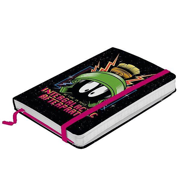 Caderneta de Anotação com Elástico 100 Folhas Looney Tunes Intergalactic Afterparty - 21 x 14 cm