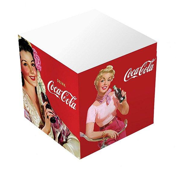 Bloco de Anotações Cubo Coca-Cola Pin Up Ladies - 8 cm