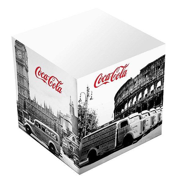 Bloco de Anotações Cubo Coca-Cola Cenários - 8 cm