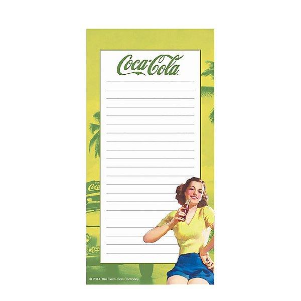 Lista de Compras Magnético Coca-Cola Pin Up Brown Lady - 20 x 10 cm