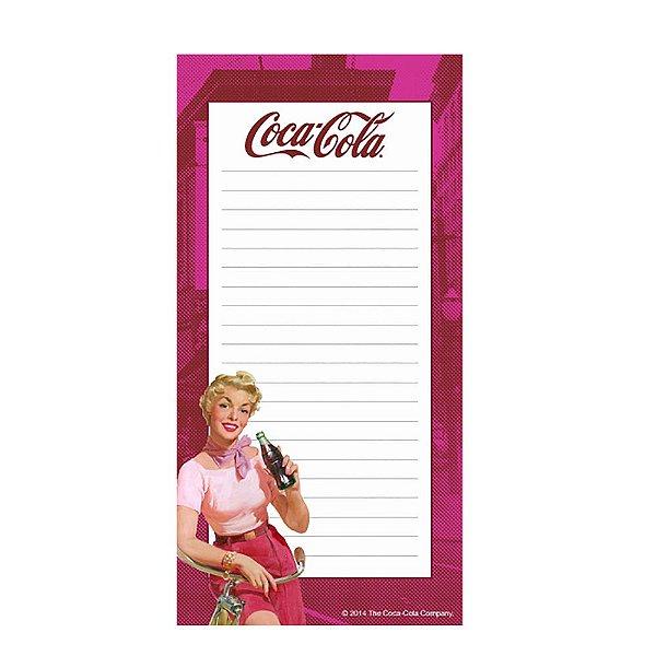 Lista de Compras Magnético Coca-Cola Pin Up Lady in a Bike - 20 x 10 cm