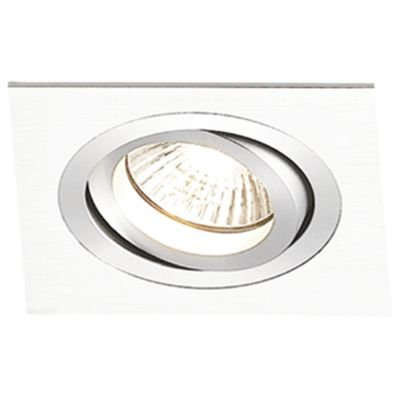 Spot Embutido Quadrado Ecco 1 x PAR20 Branco Bella Iluminação - 12 cm