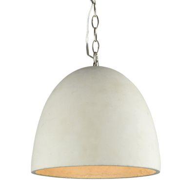 Pendente Concret 1 x E27 Cinza Claro Bella Iluminação - 26 x 30 cm