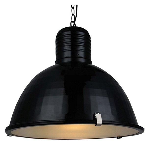 Pendente Pan 1 x E27 Preto e Branco Fosco Bella Iluminação - 41 x 52 cm