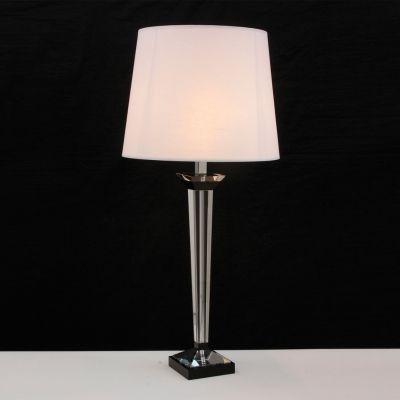 Base para Abajur Classic em Metal e Vidro 1 x E27 Cromado e Transparente Bella Iluminação - 65 cm