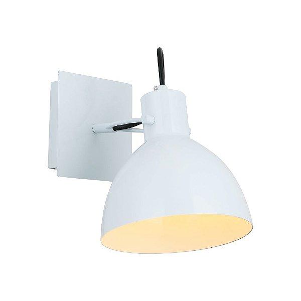 Arandela Haus de Metal 1 x E27 Branco Bella Iluminação - 21 x 19 cm