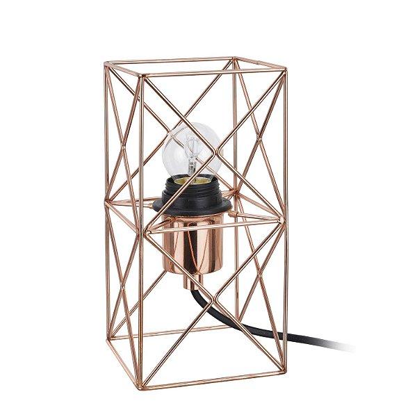 Abajur Arami 1 x E27 Cobre Bella Iluminação - 22 x 11 cm