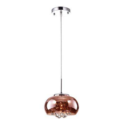 Pendente / Plafon Soho 1 x G9 Cobre e Transparente Bella Iluminação - 12 x 22 cm