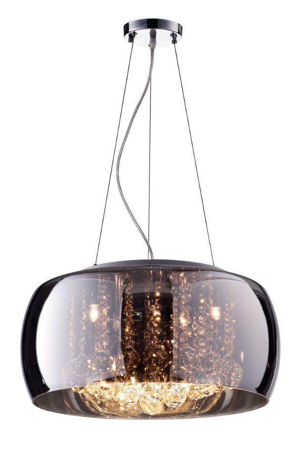 Pendente / Plafon Soho 6 x G9 Cromado e Transparente Bella Iluminação - 20 x 50 cm
