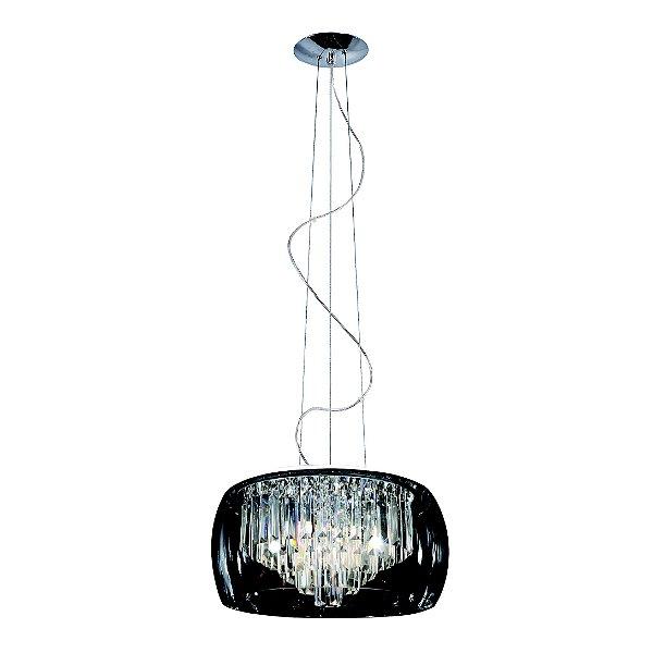 Pendente / Plafon Soho 3 x G9 Cromado e Transparente Bella Iluminação - 15 x 28 cm