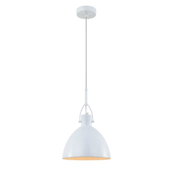 Pendente Clap 1 x E27 Branco Bella Iluminação - 22 cm