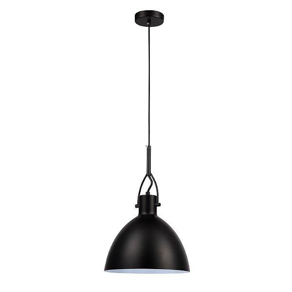 Pendente Clap 1 x E27 Preto Bella Iluminação - 22 cm