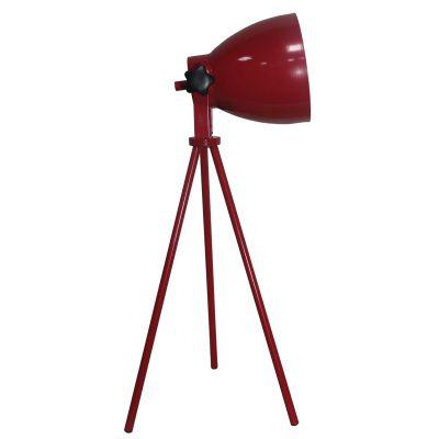 Luminária de Mesa Nickel 1 x E27 Vermelho Bella Iluminação - 55 x 19 cm