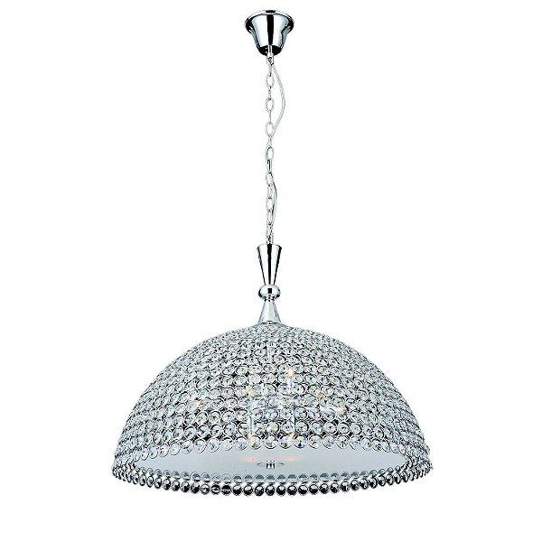 Pendente Palla 11 x G9 Cromado e Transparente Bella Iluminação - 60 cm