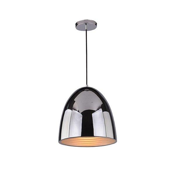 Pendente Mezza 1 x E27 Cromado Bella Iluminação - 30 cm