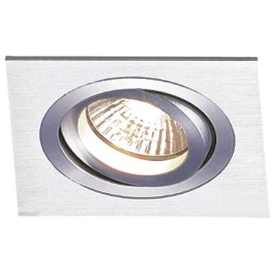 Spot Embutido Quadrado Ecco 1 x PAR30 Alumínio Escovado Bella Iluminação - 17 cm