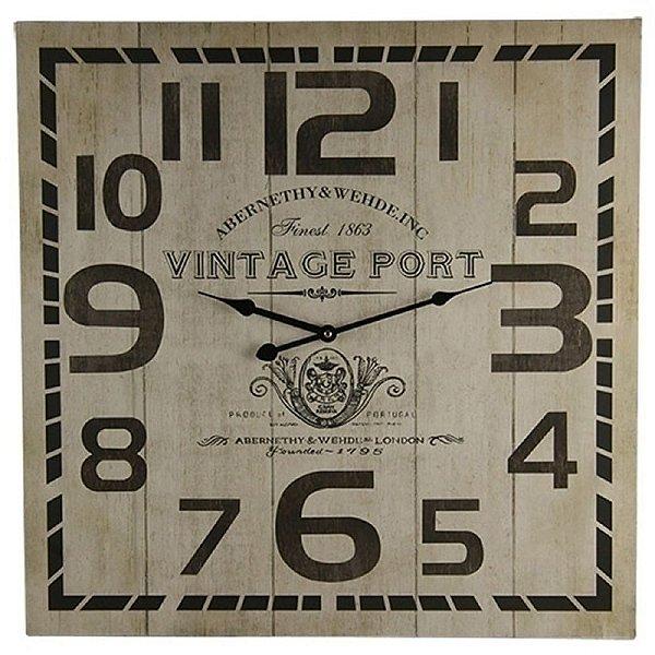 Relógio de Parede Decorativo Vintage Port - 60 cm