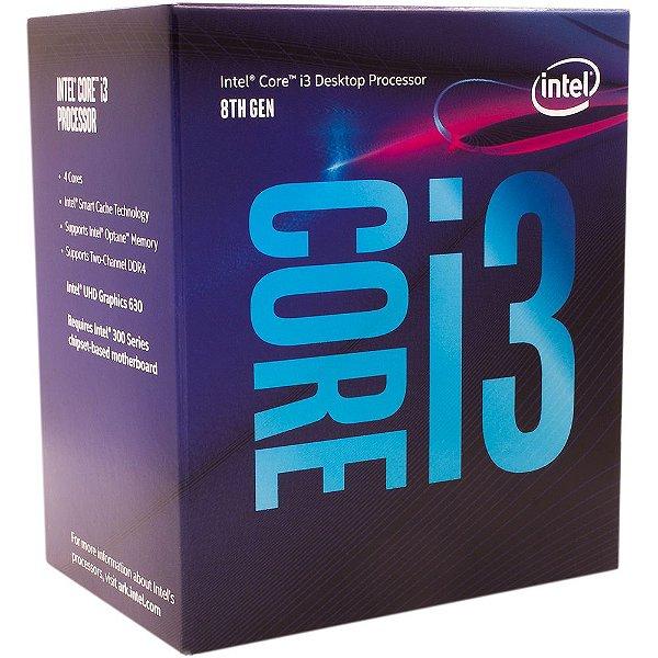 Processador Intel® Core™ i3-8100 Coffee Lake 3.6GHz BX80684I38100