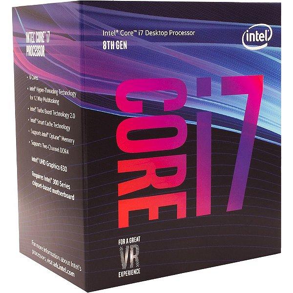 Processador Intel® Core™ i7-8700 Coffee Lake 3.2GHz BX80684I78700
