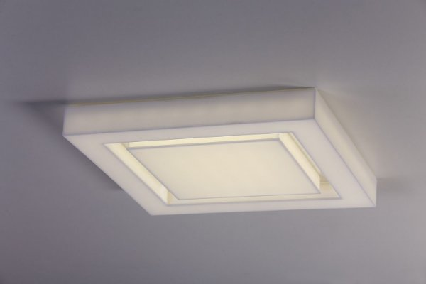 Plafon LED Sobrepor de Acrílico e Alumínio Endy Branco - Bella Italia