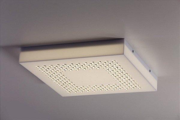 Plafon LED Sobrepor de Acrílico e Alumínio Sophie Branco - Bella Italia