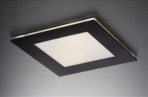 Plafon LED Embutir de Acrílico e Alumínio Doppio Preto / Branco - Bella Italia