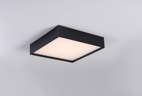 Plafon LED Sobrepor de Acrílico e Alumínio Ivi Preto / Branco - Bella Italia